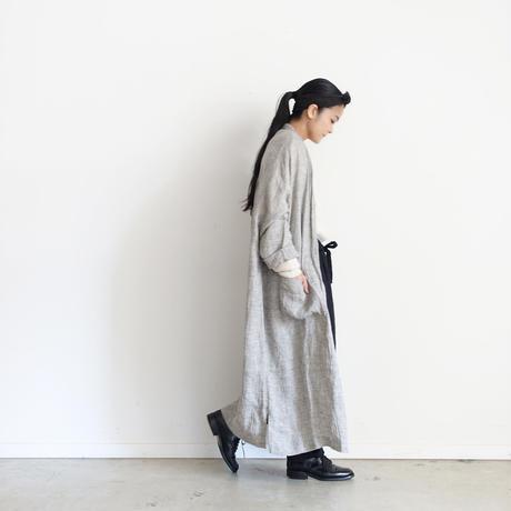 ichiAntiquités 100317 Linen Long Cardigan / GRAY