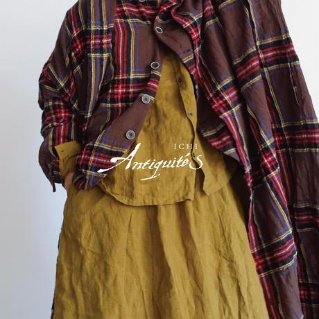ichiAntiquités  700324 Wool Tartan Skirt / B : BROWN