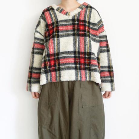 ichi 200538 Boa Check Pullover / 2 COLORS