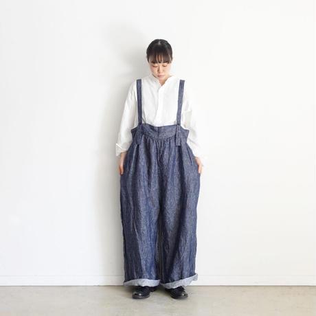 ichi 201001 Double Gauze Pullover Shirt / A : WHITE