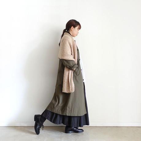 ichi 210432 soutien collar coat / B : DARK KHAKI