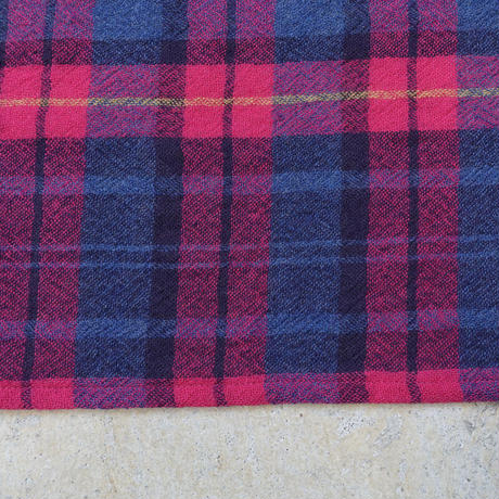 【 ONLINE LIMITED 】ichi 200526 Wool Gauze Stole / A : PINK CHECK
