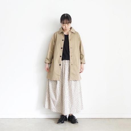 ichi 201019 Dot Gather Skirt / B : BEIGE