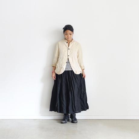 ichiAntiquités 500326 Italy Linen  Skirt / BLACK