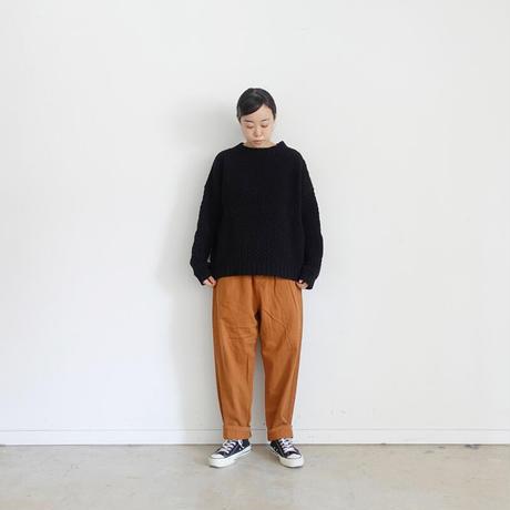ichi 190938 Cotton Pants / 2 size・KHAKI・CAMEL