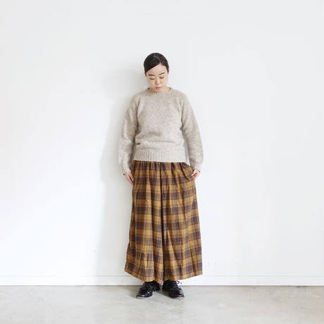ichi 200618 Check Pants / 2 COLORS