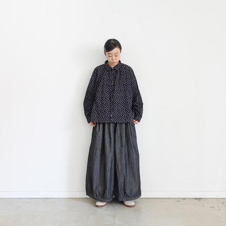 ichi 200439 Black Denim Balloon Pants / DARK