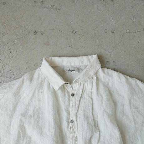 ichiAntiquités 500107 Color Linen Shirt / WHITE