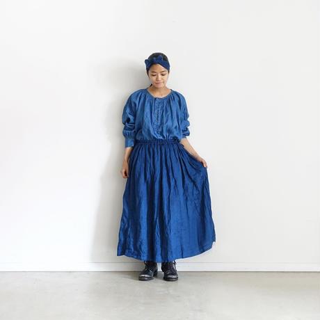 ichiAntiquités 500133 Natural Handdye Linen Skirt / INDIGO