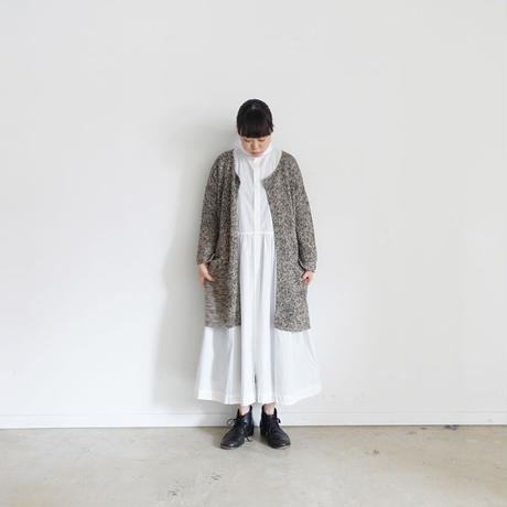 ichi 191080 Linen Cotton Cardigan / CHARCOAL