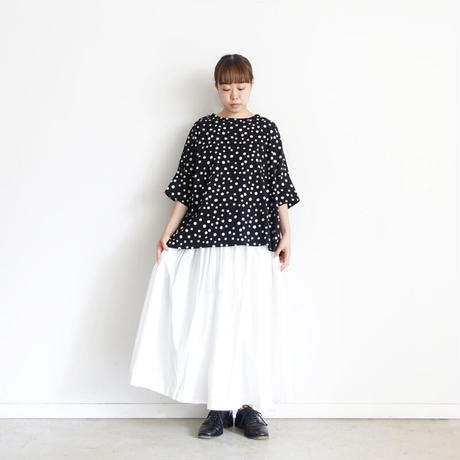 ichi 201153 Dot Wide T-shirt / 2 COLORS