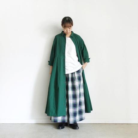 ichi 210431 Cotton Shirt One Piece / C : GREEN