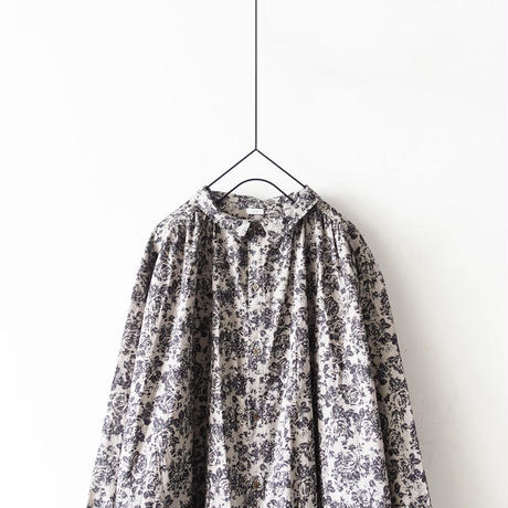 ichi 191206 Flower Print Shirt One Piece / 2 COLOR