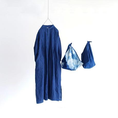 ichiAntiquités 600366 Handdye INDIGO FUROSHIKI Bag / A :  SHIBORI DYE