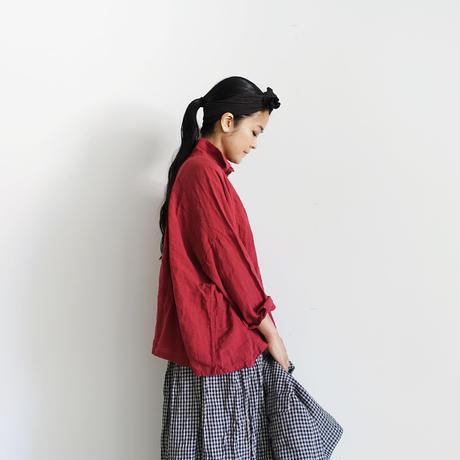 ichiAntiquités 100325 Color Linen Shirt / RED