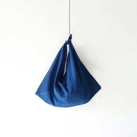 ichiAntiquités 600366 Handdye INDIGO FUROSHIKI Bag / C : STRIPES