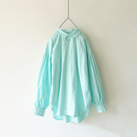 ichiAntiquités 600901 Cotton AZUMADAKI Volume Sleeve Shirt / 2 COLORS : MINT・BLACK
