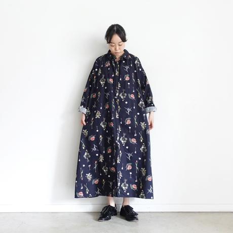 ichi 201214 Botanical Flower Shirt One Piece / 2 COLORS