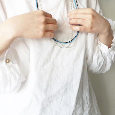 noy. 1955 Karen Silver Small beads Necklace / A : SILVER