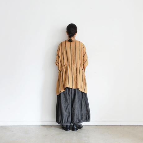 ichi 200315 Linen Stripe Pullover / 2 COLOR