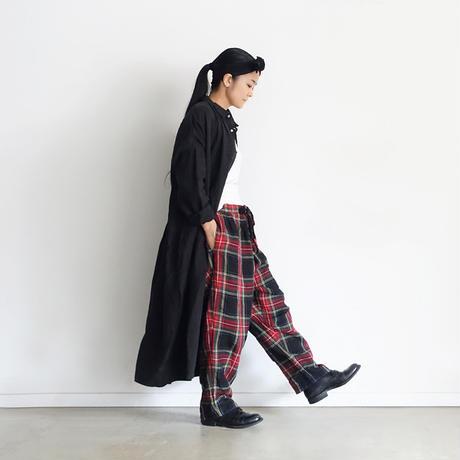【ONLINE LIMITED】ichiAntiquités 601249 Linen Shirt Dress / BLACK