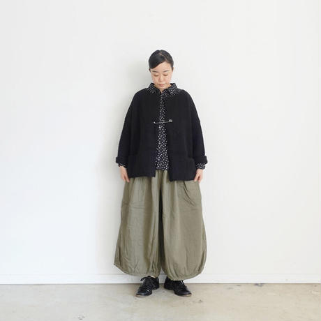 ichi 200477 Knit Cardigan / MOCHA・BLACK