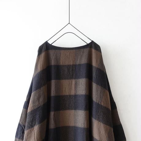ichi 200620 Cotton Wool Check One Piece / 2 COLORS