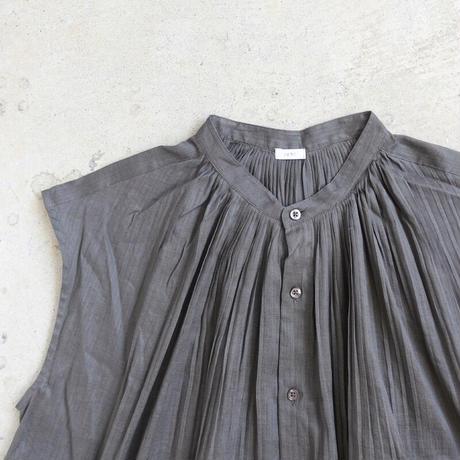 ichi 210115  Pintuck French Sleeve Shirt One Piece / C : CHARCOAL