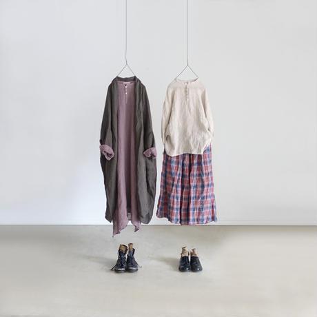 ichiAntiquités 500333 Linen Voile Dress / LAVENDER