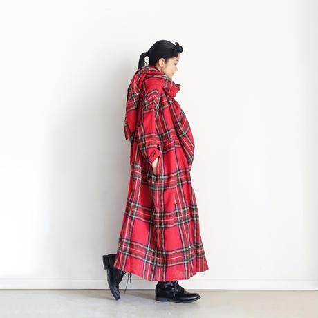 ichiAntiquités  700325 Wool Tartan Stole / A : RED