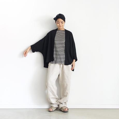 ichiAntiquités 601259 Linen Robe Cardigan / C : BLACK