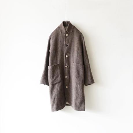 ichiAntiquités 100624 Wool mix Tweed Jacket Coat / BROWN