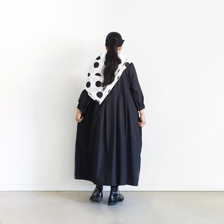 i c h i 200524 CLEANSE Broad Tuck Dress / B : BLACK