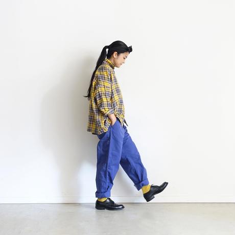 ichiAntiquités 500312 LinenTartan Shirt / YELLOW