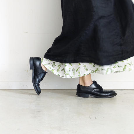 ichiAntiquités 600131 Linen AZUMADAKI Dress / D : BLACK