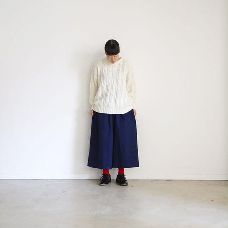 ichi 190428 Cotton Chino Pants / NAVY