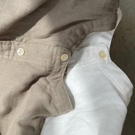 ichi 210401 Double Gauze Pullover Shirt / A : WHITE