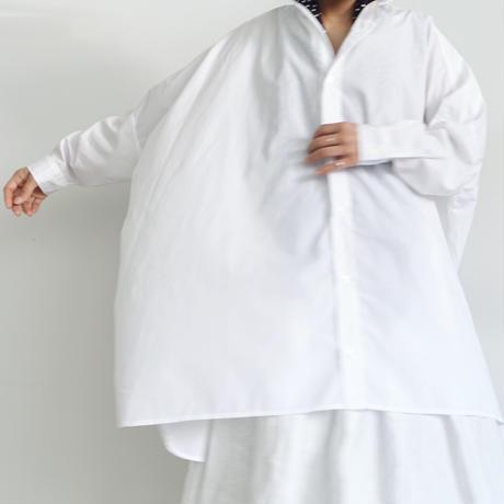i c h i 200523 CLEANSE Broad Big Shirt / A : WHITE