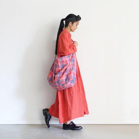 ichiAntiquités 600919 Linen Farmers Tartan Bag / A : RED