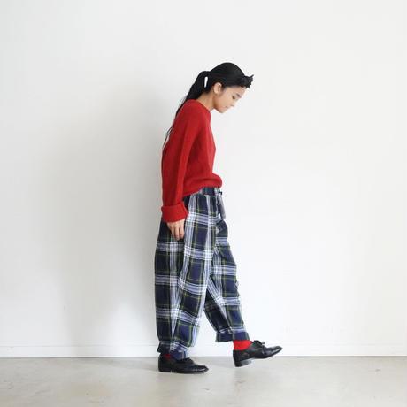 ichiAntiquités 100650 LinenTartan Pants / GREEN