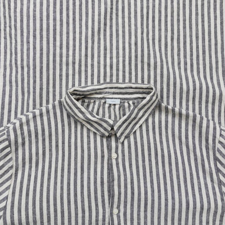 ichi 201122 Cotton Linen Stripe Shirt One Piece / A : SMALL STRIPE
