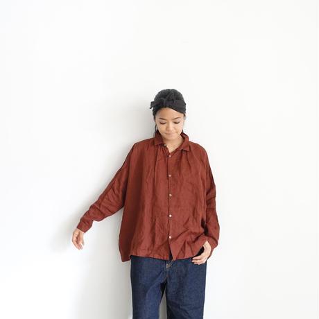 ichiAntiquités 500324 Italy Linen  Shirt / BROWN