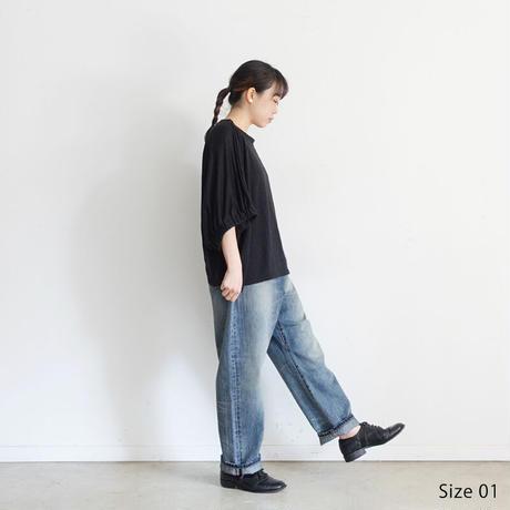 ichi 201141 New Denim Sarrouel Pants / 2 SIZE