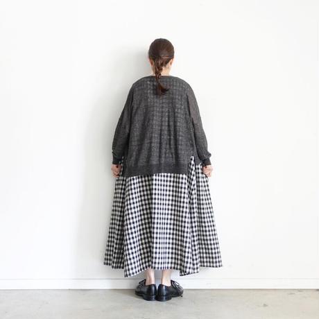 【ONLINE LIMITED】ichi 210162 Linen Cardigan / D : BLACK