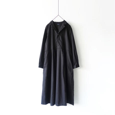 ichi 200714 CLEANSE Twill Open Collar One Piece / 2 COLORS
