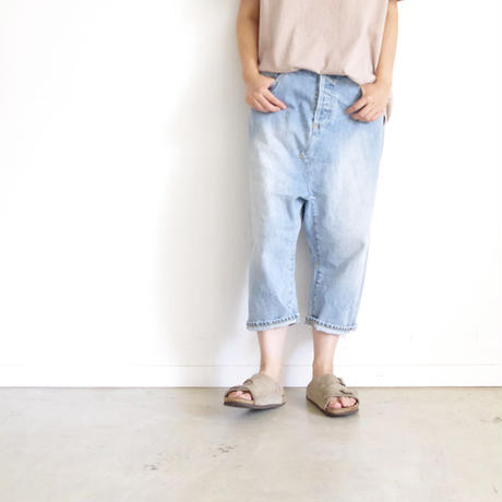 i c h i 140434 Denim Sarrouel Pants / Blue