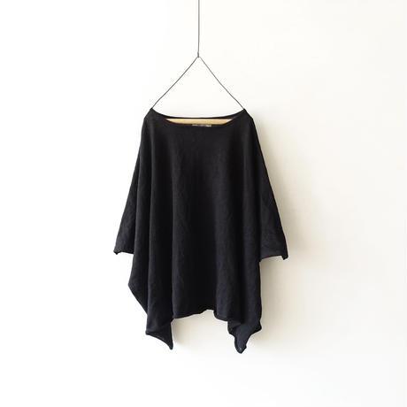 ichiAntiquités 500158  Linen Knit Wide Pullover / BLACK