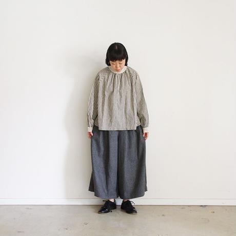 ichi 190412 Stripe Pullover / NATURAL