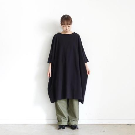 ichi 201248 Wide Long T-shirt / BLACK