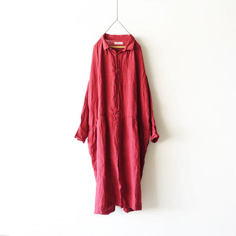ichiAntiquités 100326 Color Linen Dress / RED